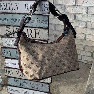 Dooney & Bourke Brown Monogrammed Handbag